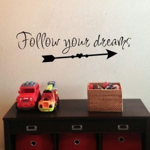 Follow Your Dreams Wall Sticker 2