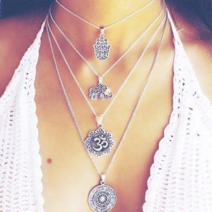 Women's Boho Style Multilayer Necklace 16