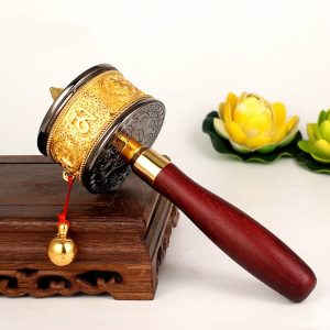 Red Wood Buddhist Prayer Wheel 3