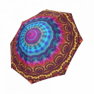 Colorful Mandala Print Umbrella 1