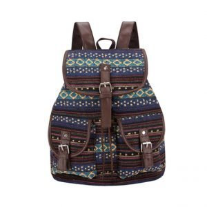 Women's Striped Ethnic Style Backpack 14