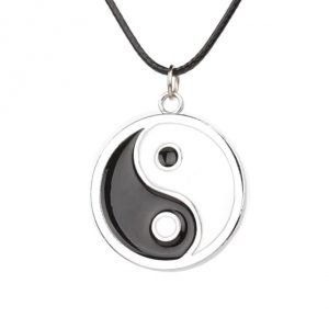 Simple Style Ying Yang Necklace 16