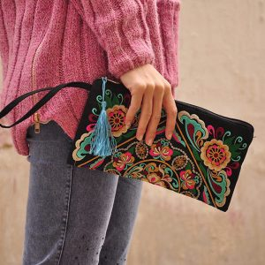 Women's Ethnic Embroidery Clutch 5