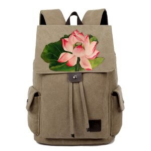 Women's Hand Made Lotus Backpack 7