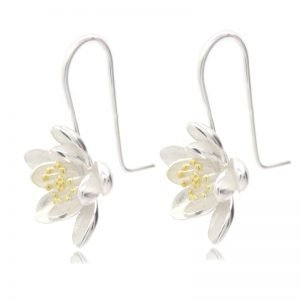 Women's 925 Sterling Silver Lotus Earrings 5