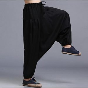 Men's Loose Style Linen Pants 7