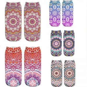 Women's Mandala Print Socks 10