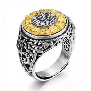925 Sterling Silver Rotatable Mantra Ring 8