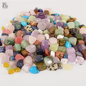 Assorted Tumbled Chips Stone Crushed Crystal Quartz Pieces Irregular Shaped Stones 4