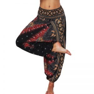 Women's Boho Print Loose Harem Pants 8
